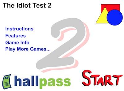 idiot test 2 flash game